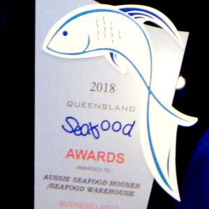 Winners at Queensland Seafood Industry Awards